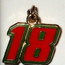 CHARM #18 NASCAR SPRINT CUP AUTO RACING BODY JEWELRY MX FOOTBALL SPORTS RACE DAY