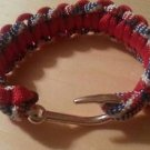 BRAIDED PARACORD FISH HOOK BRACELET HANDMADE (Red, White and Blue)