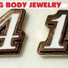 POST STUD EARRINGS #14 TONY STEWART NASCAR SPRINT CUP AUTO RACING RACE JEWELRY