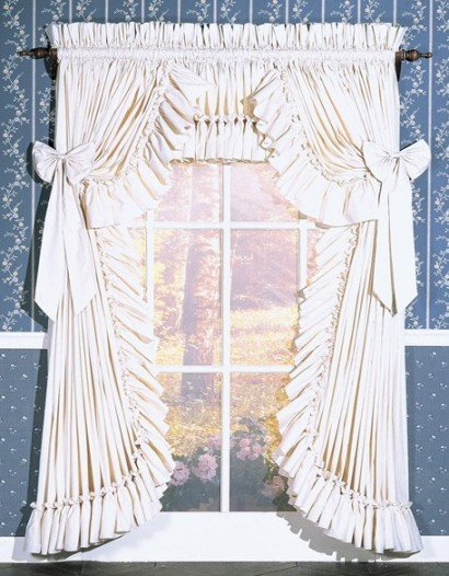 CAROLINA RUFFLED CURTAINS - 100 W x 45 L