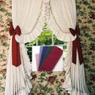 CAROLINA RUFFLED PEARL EDGE SWAG STYLE CURTAINS