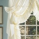 RUFFLED ELEGANCE CURTAIN BOWS