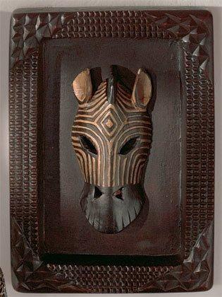 Zebra Mask Plaque