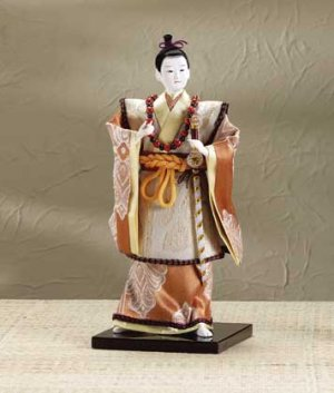 29106 Porcelain Samurai Figurine with Sword