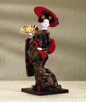 29107 Porcelain Geisha with Fan