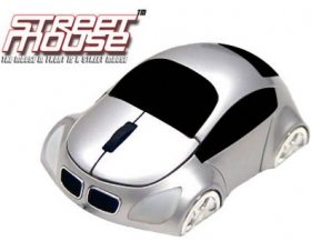 Street Mouse 3D Optical Car Shaped Mouse Silver