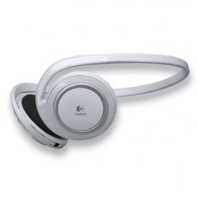 Logitech Bluetooth Stereo MP3 Head Phones Ipod Adaptor