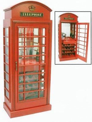Telephone Box Wine Cabinet