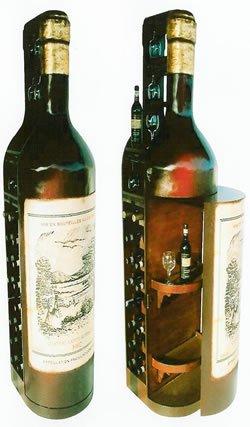 Wine bottle storage cabinet