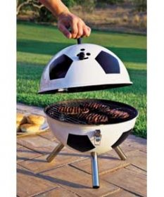 Portable Football Barbeque BBQ