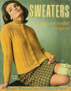 Vintage 60s SWEATERS CARDIGAN Knitting Crochet Patterns