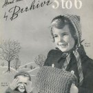 VINTAGE 1940s CHILD SWEATERS DRESS GLOVES KNITTING PATTERNS