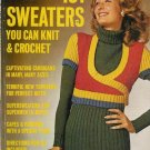 VINTAGE 70s WOMAN'S DAY 101 SWEATERS SHAWL PONCHO KNIT CROCHET PATTERNS