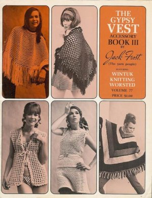 Vintage 70s BOHO GYPSY VESTS Knitting Crochet Patterns