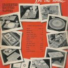 Vintage 1940s Doilies Lunch Sets Basket Crochet Pattern