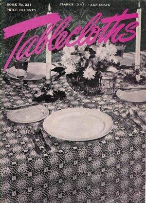 Vintage 1940s Tablecloths Place Settings Crochet Patterns