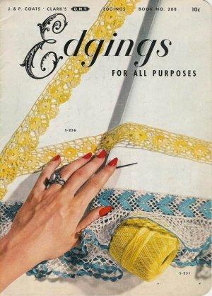 VINTAGE 50s EDGINGS KNIT CROCHET TATTING PATTERNS