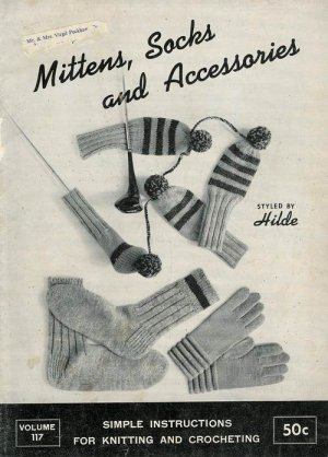 Vintage 60s SOCKS MITTENS DOG SWEATER Knitting Patterns