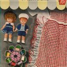 Vintage 50s GIFTS NOVELTIES DOLLS APRON Crochet Pattern