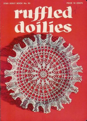 Crochet Tatting Patterns Ruffled Doilies Star Book 95 Octopus Square Filet 1952