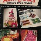 Vintage 50s TOYS RUG SLIPPERS Crochet Knitting Patterns