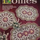 Vtg 50s DOILIES FLOWER RUFFLE Knit Crochet Patterns