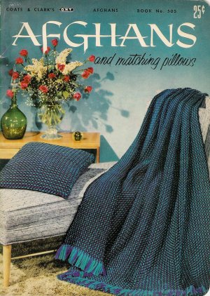 Vintage 1950s AFGHANS PILLOWS Crochet Knitting Patterns