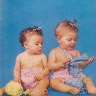 Vintage 1951 Bernat Baby Hand Knits Pattern Book