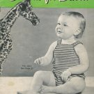 Vintage 1943 Cottons for Babies Knitting Crochet Patterns Book
