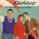 Vintage 1950s College Fashions to Knit for Men and Women Patterns Book
