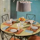 VTG 50s HOME DECOR PILLOWS RUGS DECORATOR FABRICS MOTIFS TWEEDY CROCHET PATTERNS