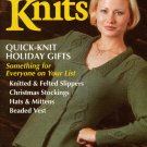 INTERWEAVE KNITS Winter 1998 Gifts Hats Mittens Stockings Slippers Vintage Knits