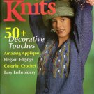 INTERWEAVE KNITS Spring 1999 Applique Embroidery Crochet Knitting Patterns