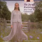 INTERWEAVE KNITS Winter 2001-02 Geisha Kimono Entrelac Vest Knitting Patterns