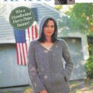 INTERWEAVE KNITS Spring 2002 Lace Shawl Fingerless Mitts Sweaters Grand Plan Tam