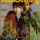 VOGUE KNITTING Winter 2007-08 Lace Shawl Aran Cable Swing Coat Cardigan Jacket