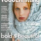 VOGUE KNITTING Winter 2008-09 Aran Cables Bulky Sweaters Gloves Wrap Fair Isle