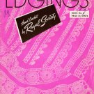 Vintage 40s EDGINGS CORNERS MOTIFS Crochet Knit Hairpin Lace Pattern