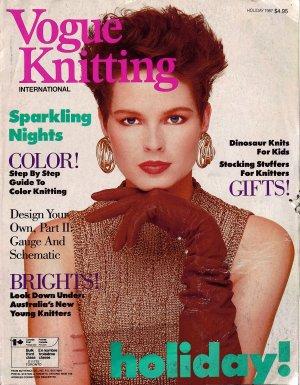 VOGUE KNITTING Holiday 1987 Fair Isle Folk Designs Kids Sweaters