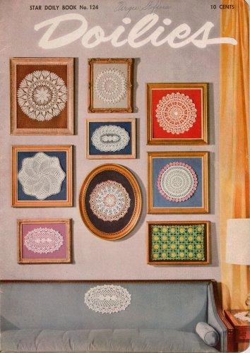 Crochet Knit Patterns Doilies Star Book 124 Pineapple Flower Wedding Motif 1950s