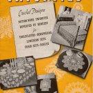 Vtg Crochet Patterns Old New Favorites Pineapple Irish Flower Basket 1941