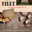 Vtg Filet Crochet Patterns Edgings Collar Doily Place Mat Eagle 1955