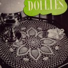 Vtg Crochet Patterns Doilies Centerpiece Runner Motif Pineapple Ruffle 1947