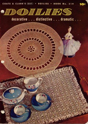 Vintage Knitting Crochet Patterns Doilies Lace Pineapple Wheat Daisy 1955 VTNS