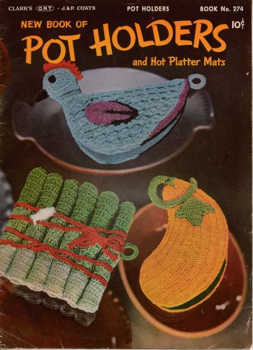 Crochet Potholder Pattern Platter Mat Chicken Fruit Vegetables Vintage Book 1951