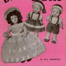 Crochet Patterns Doreen Dolls Baby Boy Girl Bridesmaid Dresses 1951