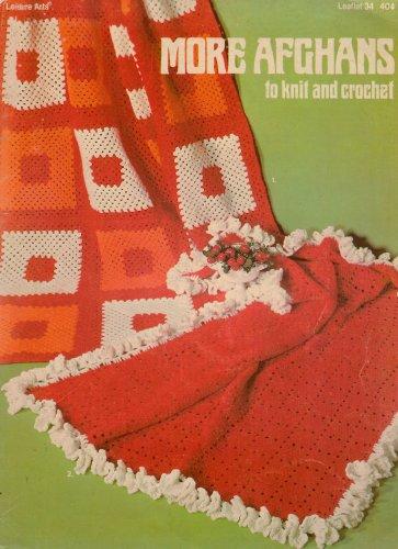 Knit Crochet Patterns More Afghans Classic Granny Aran Leisure Arts 34 1974