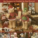 Miniature Bears Holiday Crochet Patterns Leisure Arts 2057 Angel Santa 1991
