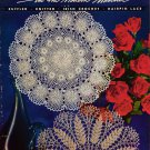 Doilies Modern Manner Crochet Knitting Hairpin Lace Ruffled Patterns 1953