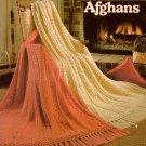 Fisherman Crochet Afghans Leisure Arts Leaflet 250 6 Vintage Patterns 1983